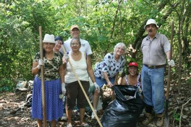 Library's Seniors Group cleaning up!